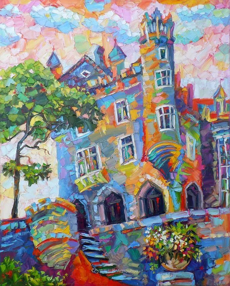 色彩缤纷,大笔触的风景与建筑,充满活力!插图29