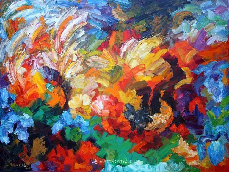 色彩缤纷,大笔触的风景与建筑,充满活力!插图33