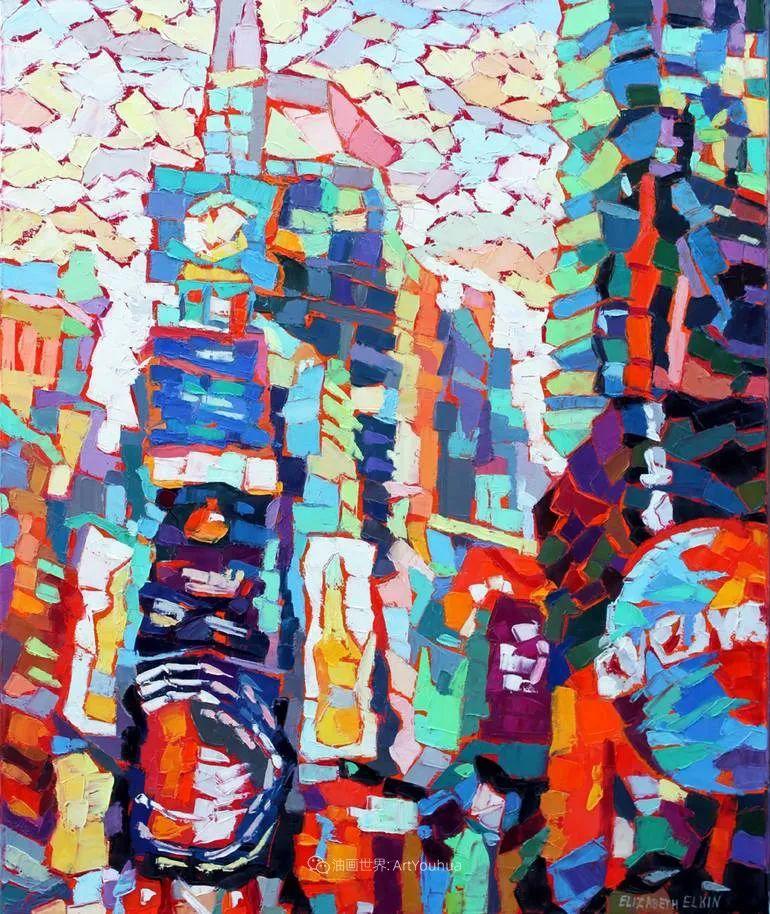 色彩缤纷,大笔触的风景与建筑,充满活力!插图37