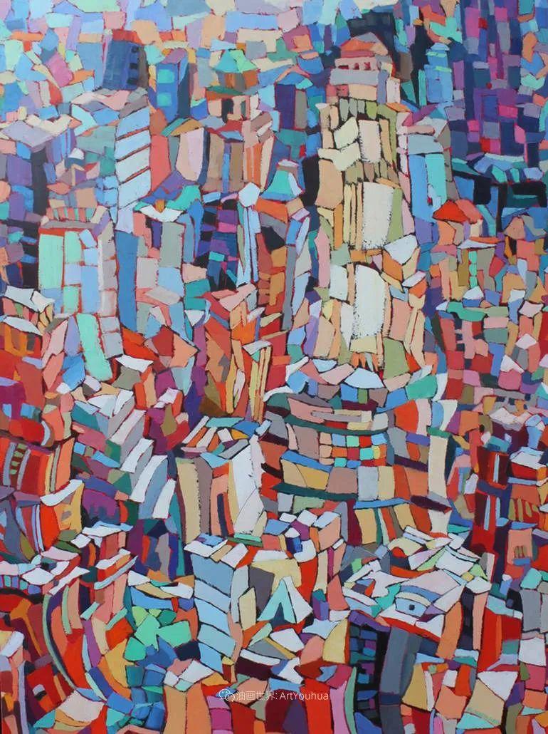 色彩缤纷,大笔触的风景与建筑,充满活力!插图39