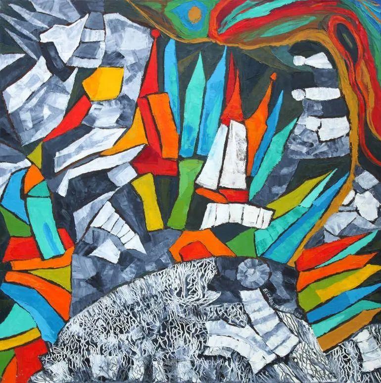 色彩缤纷,大笔触的风景与建筑,充满活力!插图41