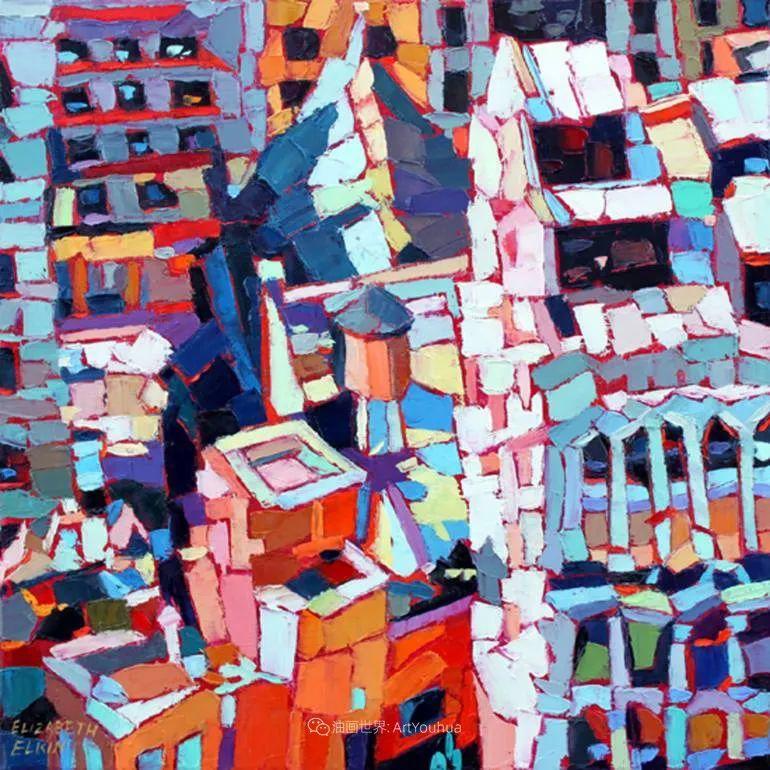 色彩缤纷,大笔触的风景与建筑,充满活力!插图47
