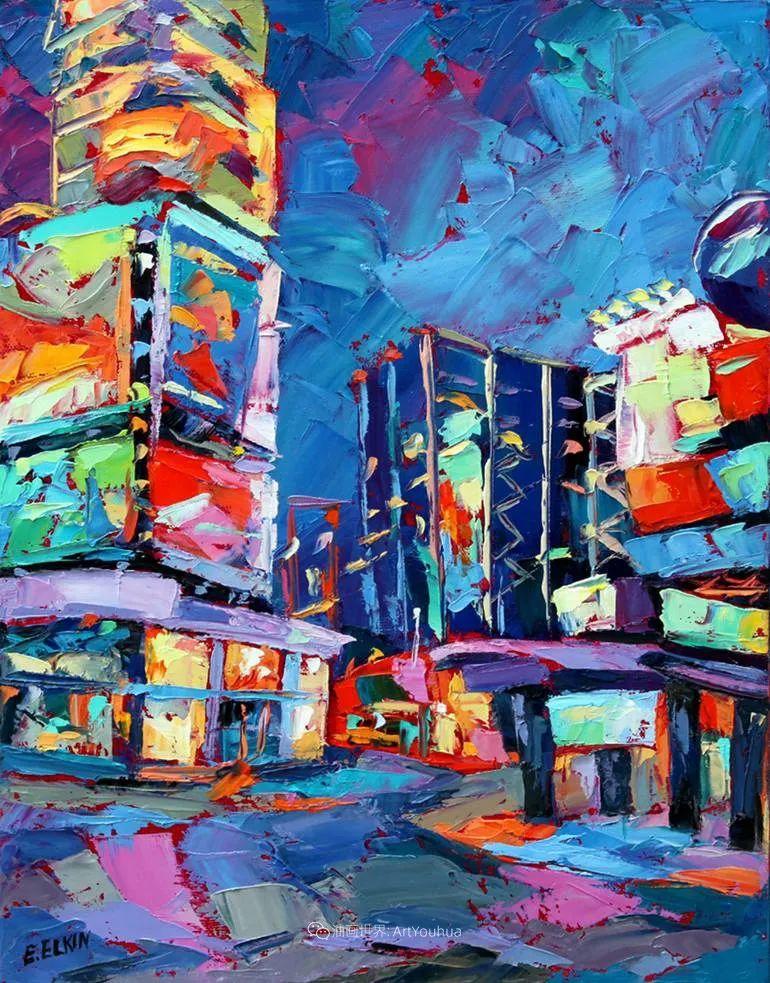 色彩缤纷,大笔触的风景与建筑,充满活力!插图55