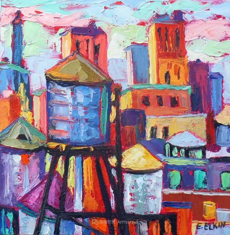 色彩缤纷,大笔触的风景与建筑,充满活力!插图59