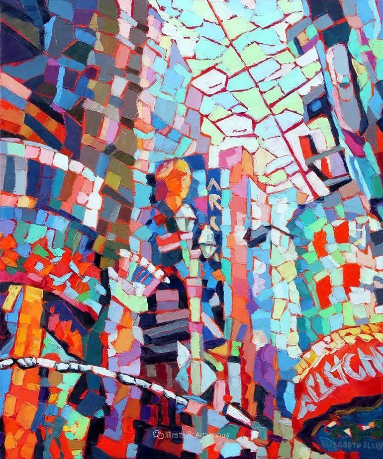 色彩缤纷,大笔触的风景与建筑,充满活力!插图63