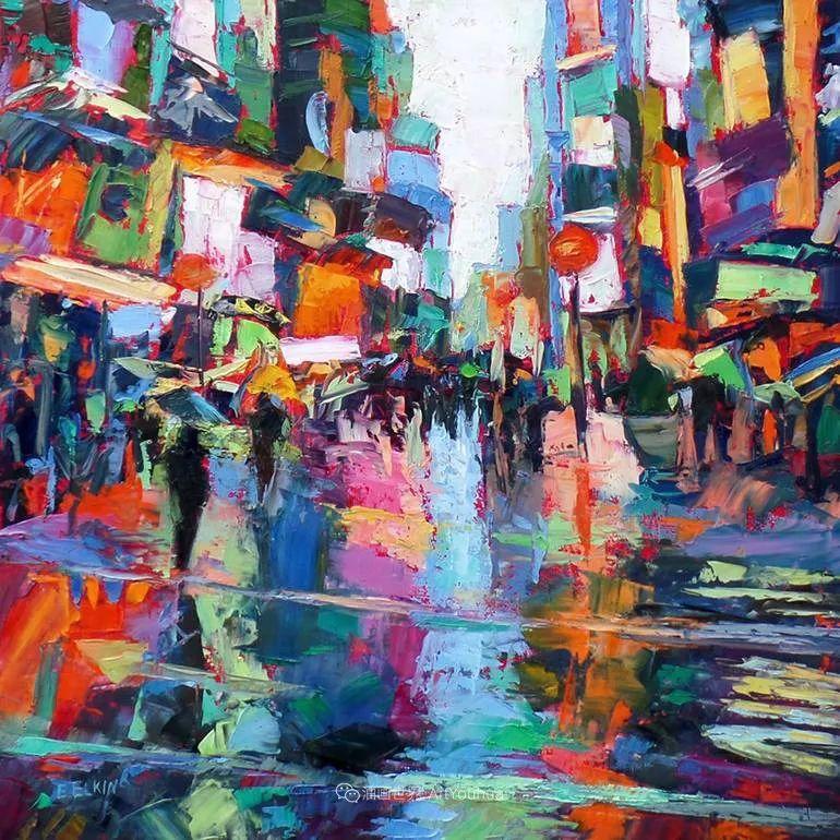 色彩缤纷,大笔触的风景与建筑,充满活力!插图69