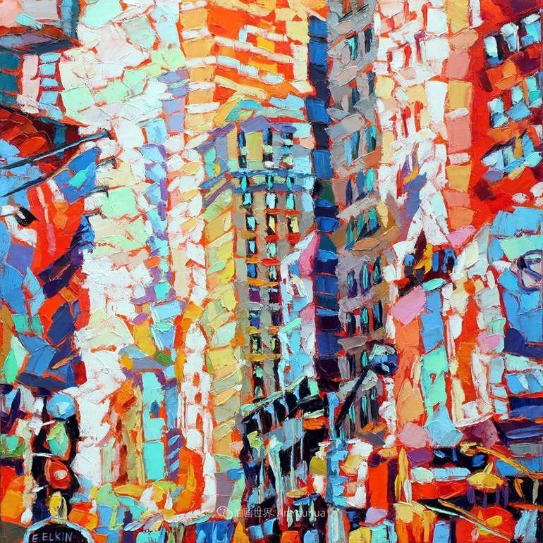 色彩缤纷,大笔触的风景与建筑,充满活力!插图83