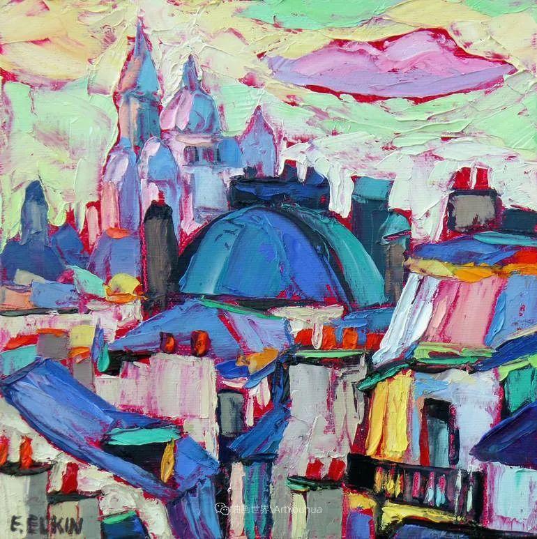 色彩缤纷,大笔触的风景与建筑,充满活力!插图87