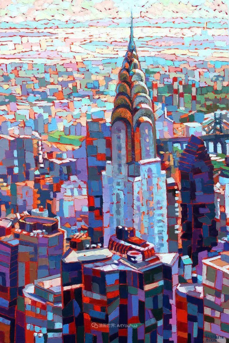 色彩缤纷,大笔触的风景与建筑,充满活力!插图97