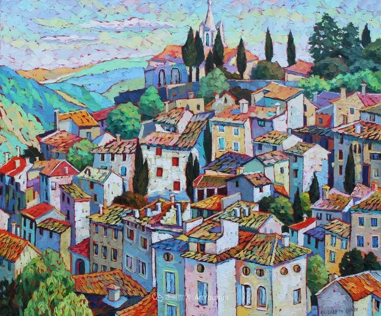 色彩缤纷,大笔触的风景与建筑,充满活力!插图101