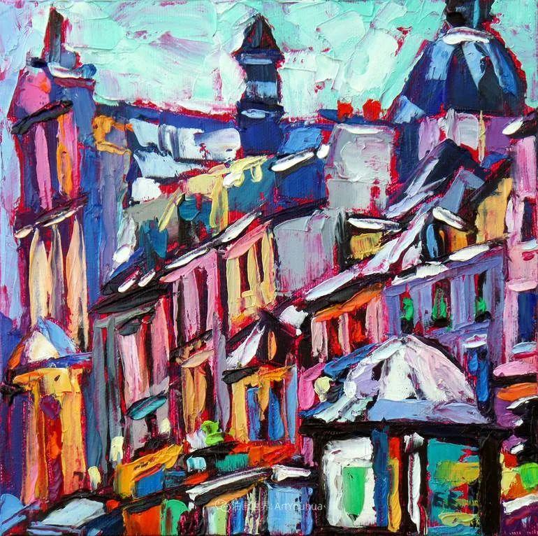 色彩缤纷,大笔触的风景与建筑,充满活力!插图105