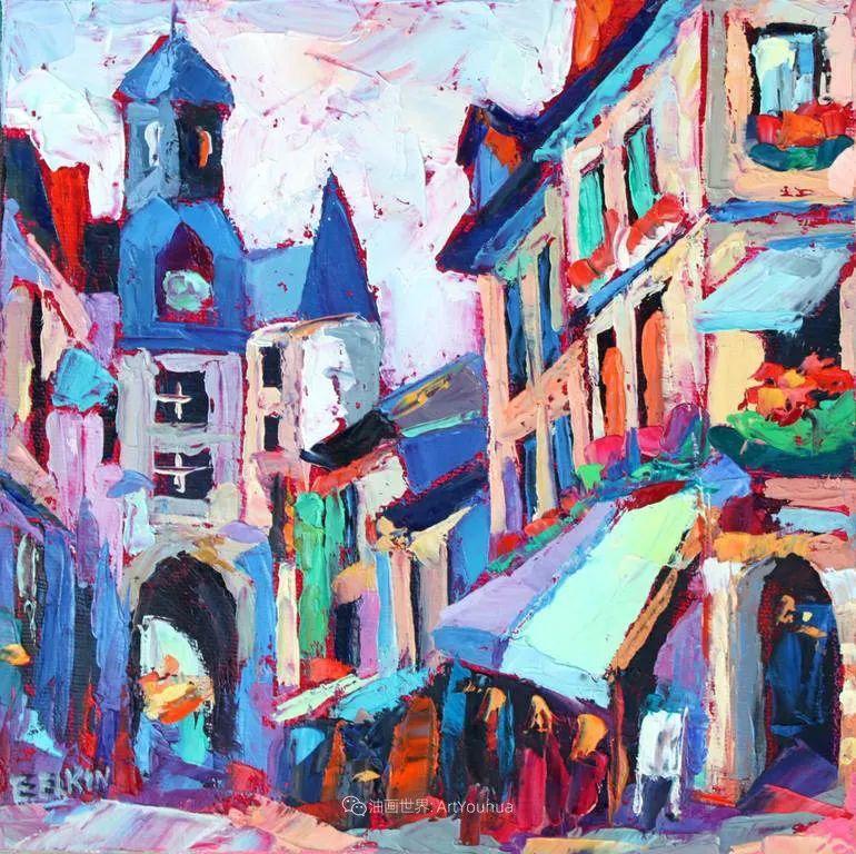 色彩缤纷,大笔触的风景与建筑,充满活力!插图107