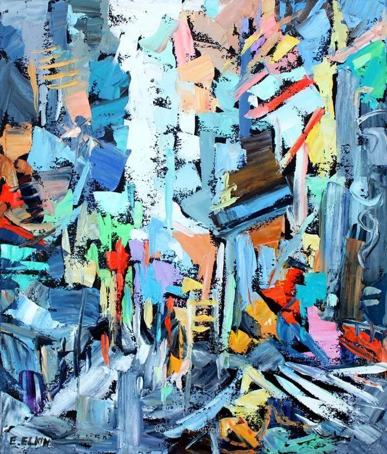 色彩缤纷,大笔触的风景与建筑,充满活力!插图117