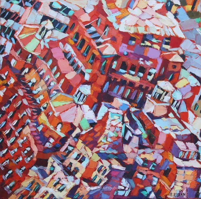 色彩缤纷,大笔触的风景与建筑,充满活力!插图119