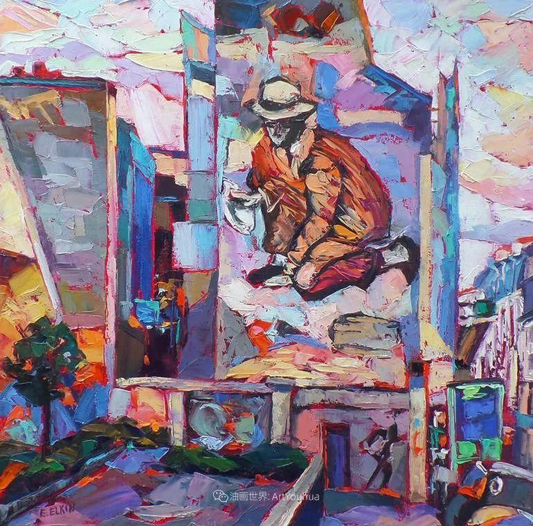 色彩缤纷,大笔触的风景与建筑,充满活力!插图123