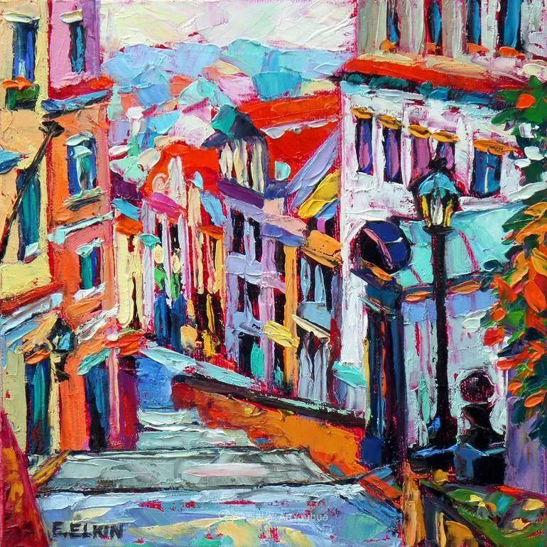 色彩缤纷,大笔触的风景与建筑,充满活力!插图129