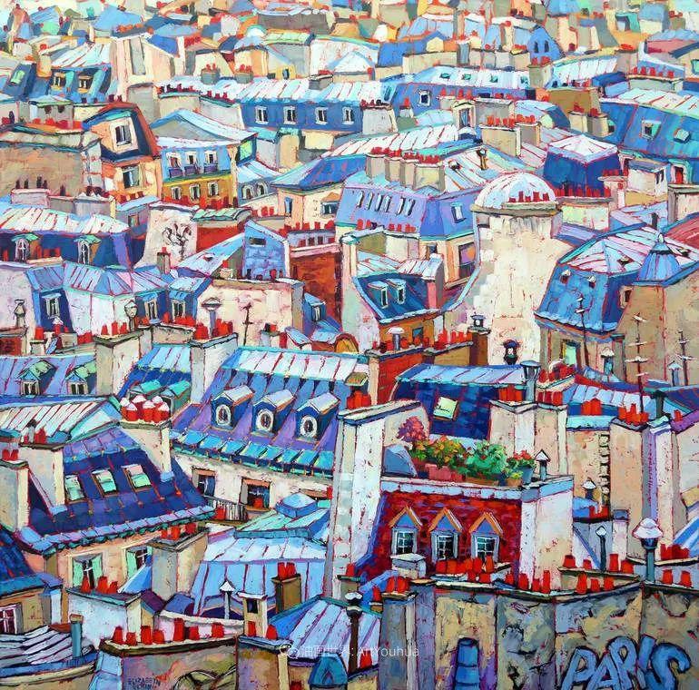 色彩缤纷,大笔触的风景与建筑,充满活力!插图131