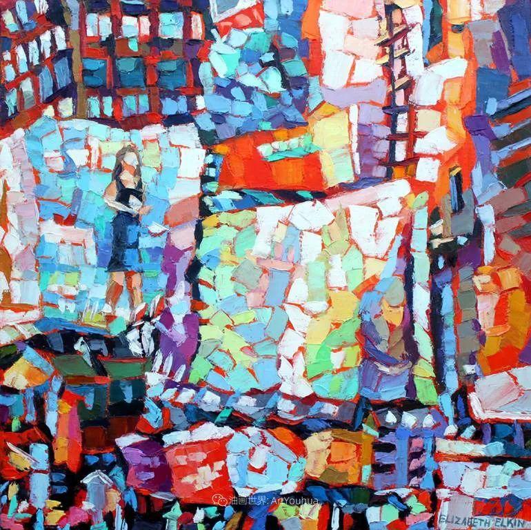 色彩缤纷,大笔触的风景与建筑,充满活力!插图133