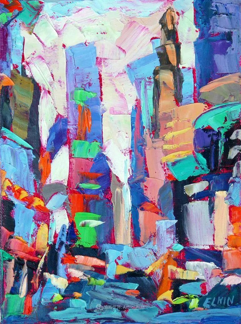色彩缤纷,大笔触的风景与建筑,充满活力!插图135