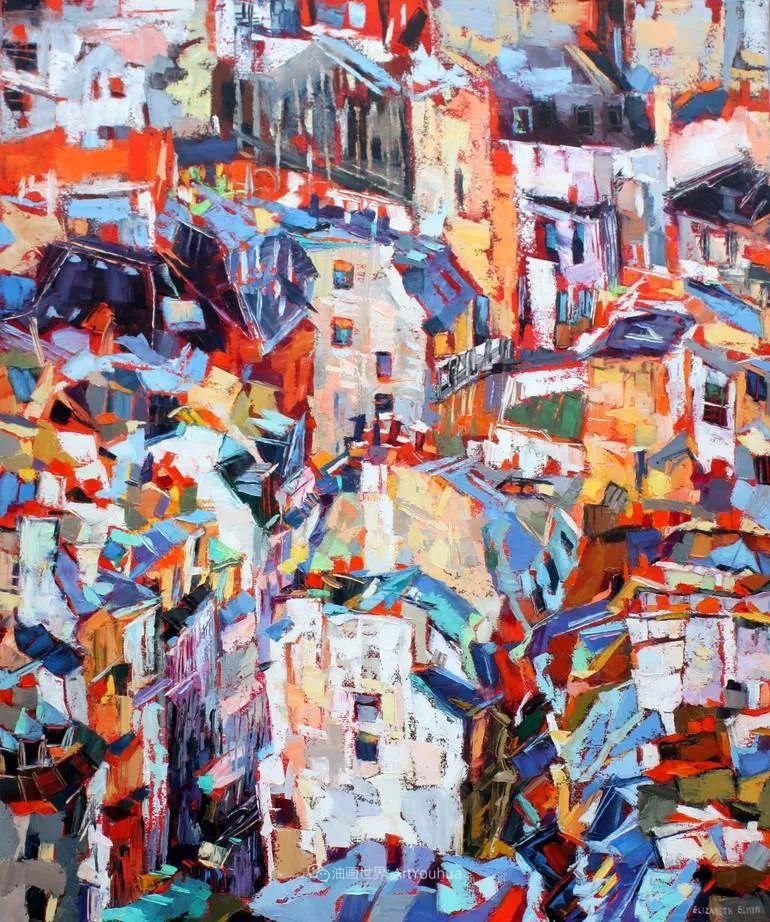色彩缤纷,大笔触的风景与建筑,充满活力!插图137