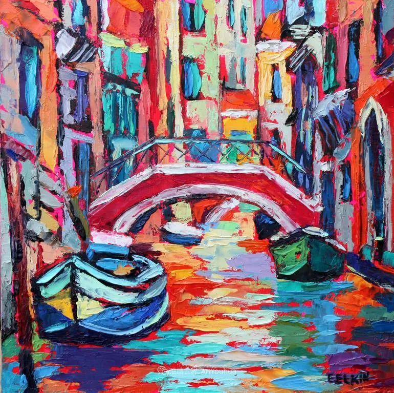 色彩缤纷,大笔触的风景与建筑,充满活力!插图141