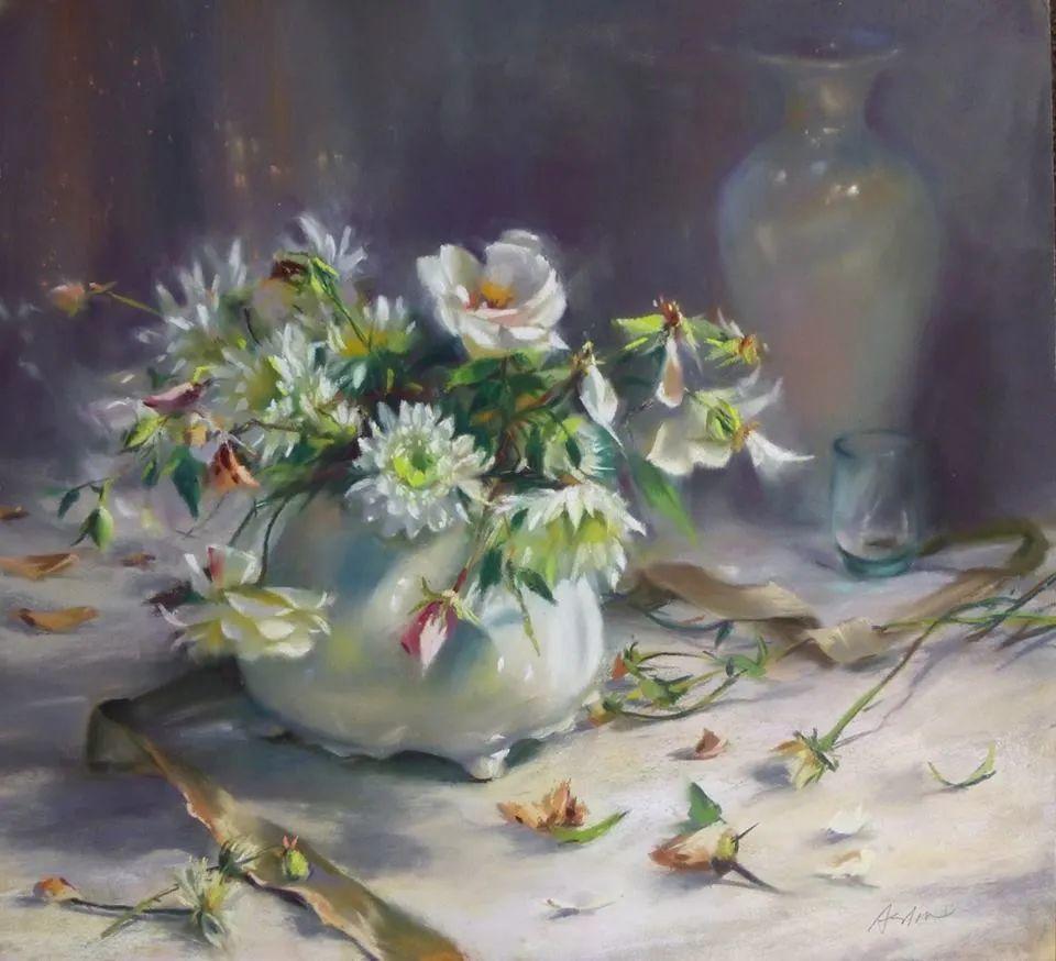 美妙的光影变化,粉彩花卉!插图