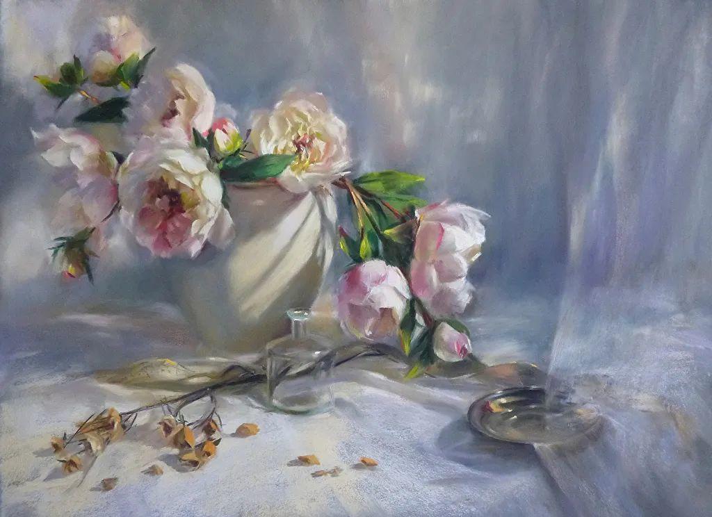 美妙的光影变化,粉彩花卉!插图1