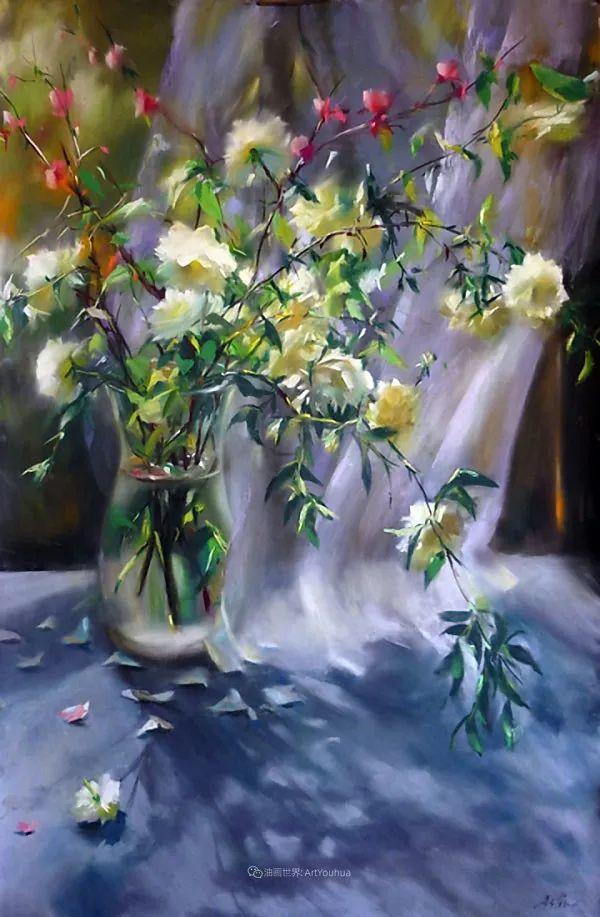 美妙的光影变化,粉彩花卉!插图3