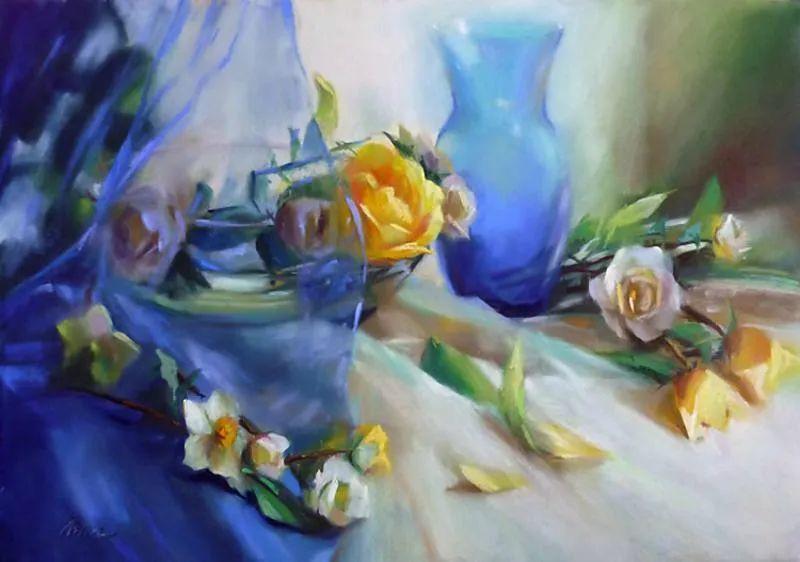 美妙的光影变化,粉彩花卉!插图5