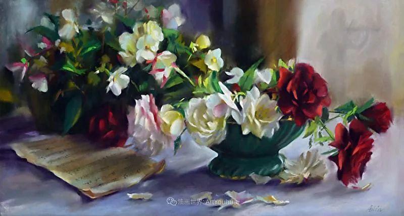 美妙的光影变化,粉彩花卉!插图14