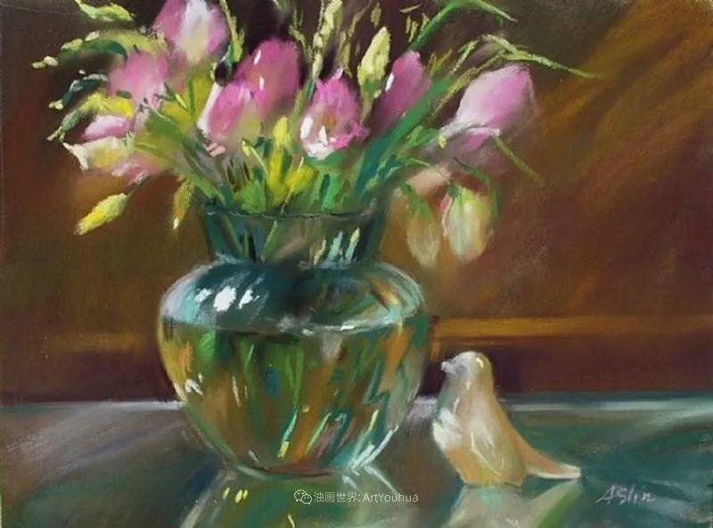 美妙的光影变化,粉彩花卉!插图55