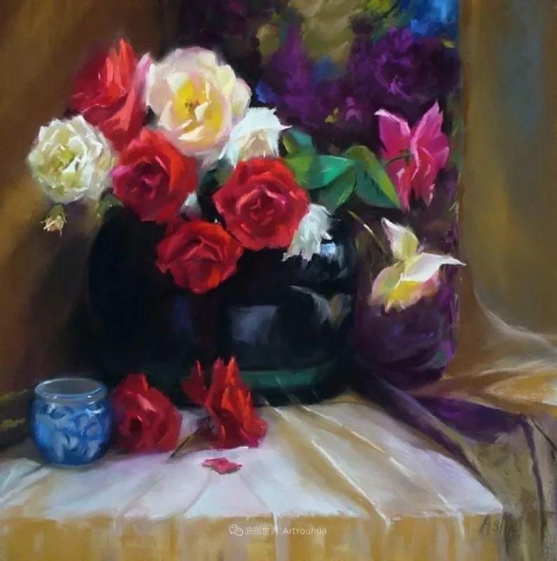 美妙的光影变化,粉彩花卉!插图58