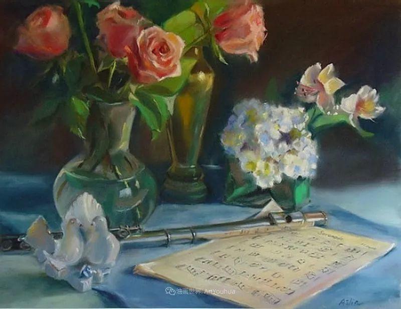 美妙的光影变化,粉彩花卉!插图63