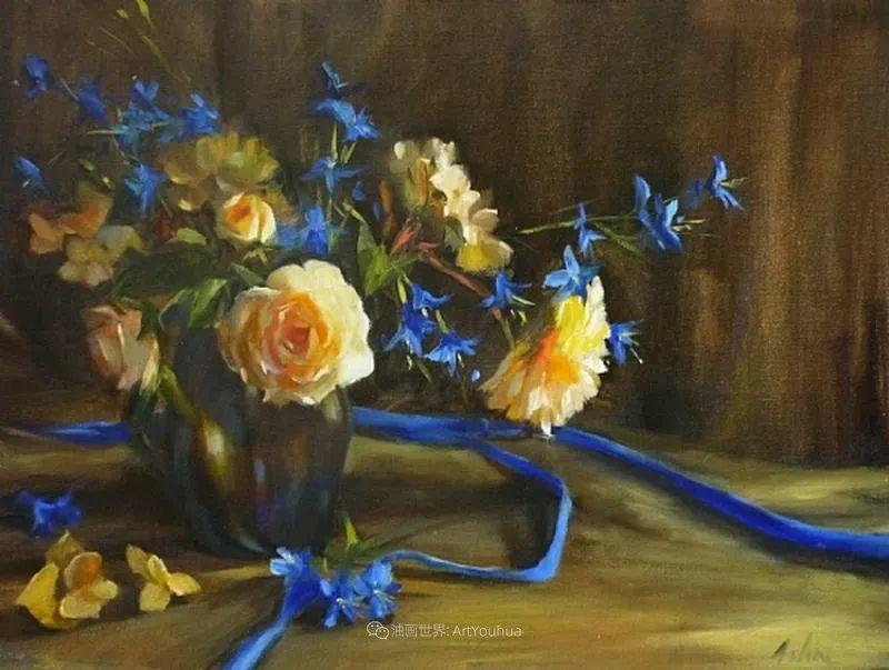 美妙的光影变化,粉彩花卉!插图72