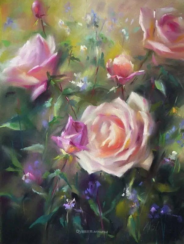 美妙的光影变化,粉彩花卉!插图76