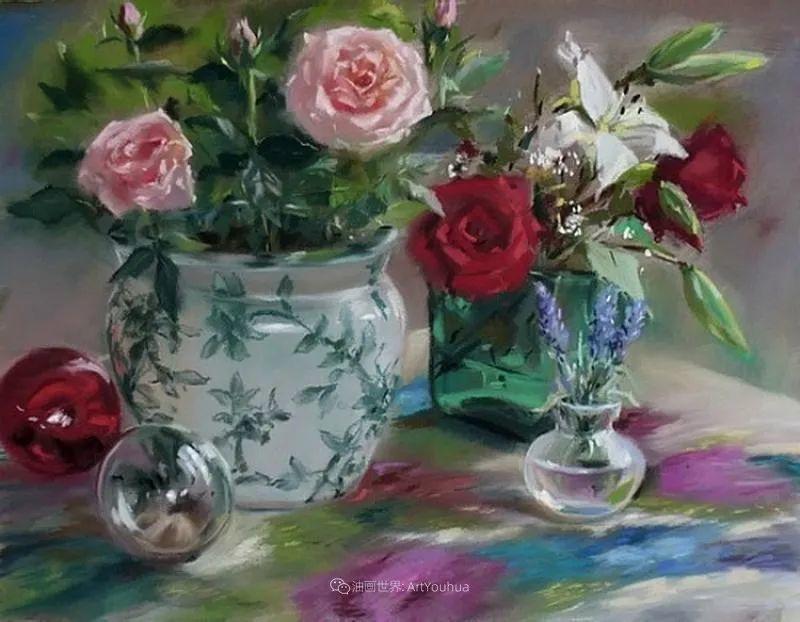 美妙的光影变化,粉彩花卉!插图82