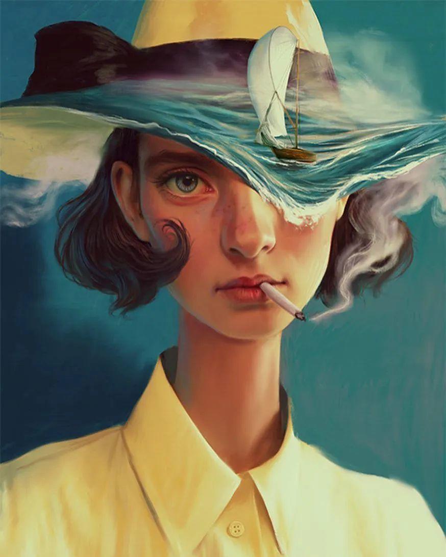 令人惊异的超现实主义肖像画,好有创意!插图3