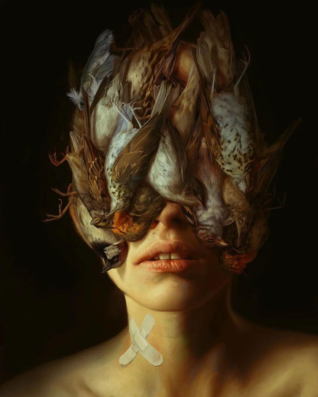 令人惊异的超现实主义肖像画,好有创意!插图7