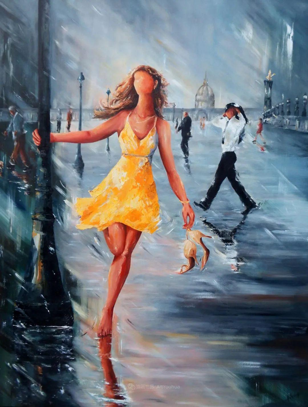 穿黄裙的女人,无忧无虑,轻盈美丽!插图1