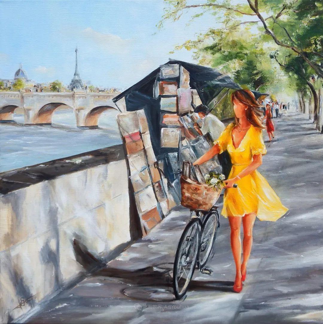 穿黄裙的女人,无忧无虑,轻盈美丽!插图2