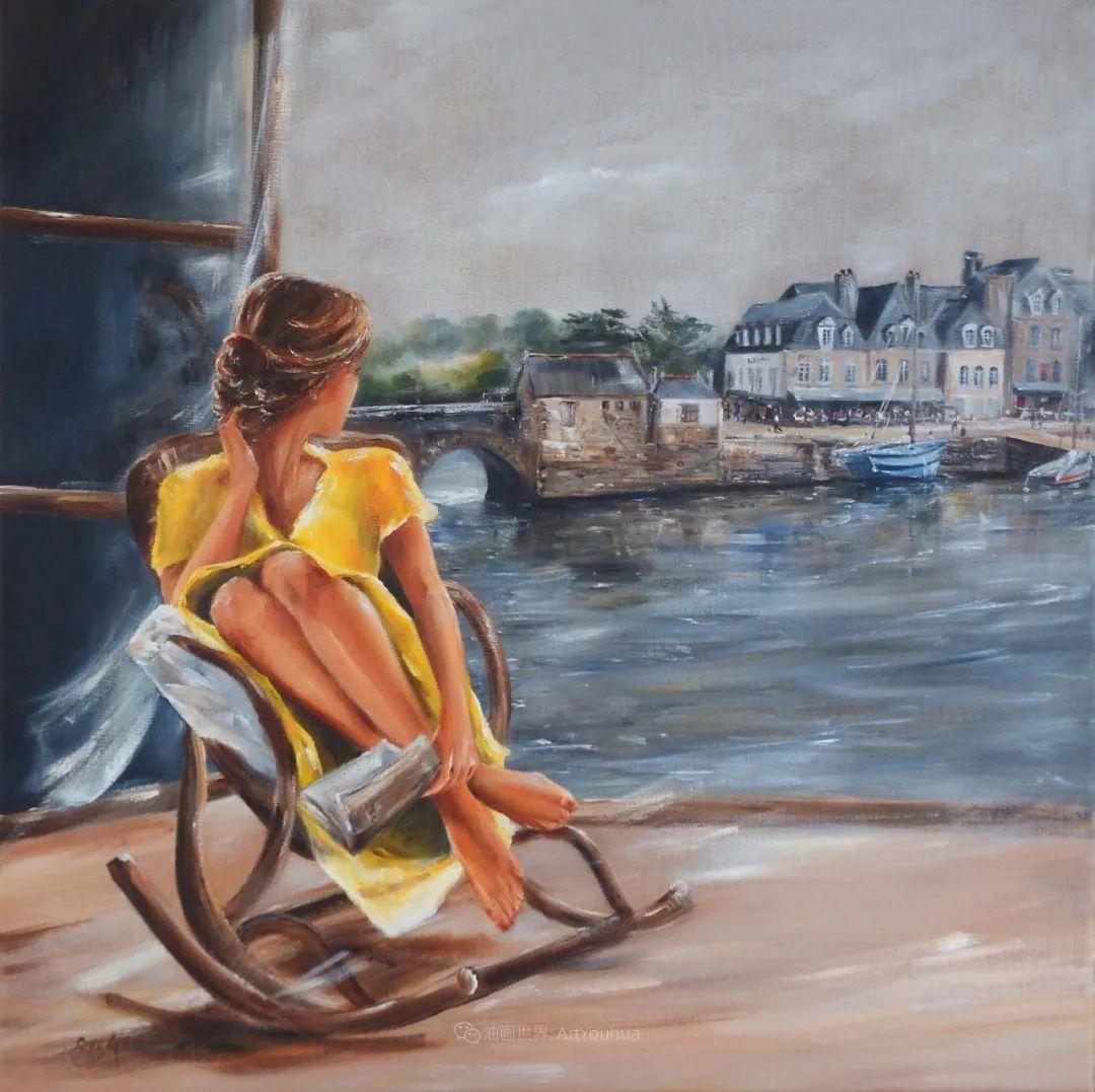 穿黄裙的女人,无忧无虑,轻盈美丽!插图9