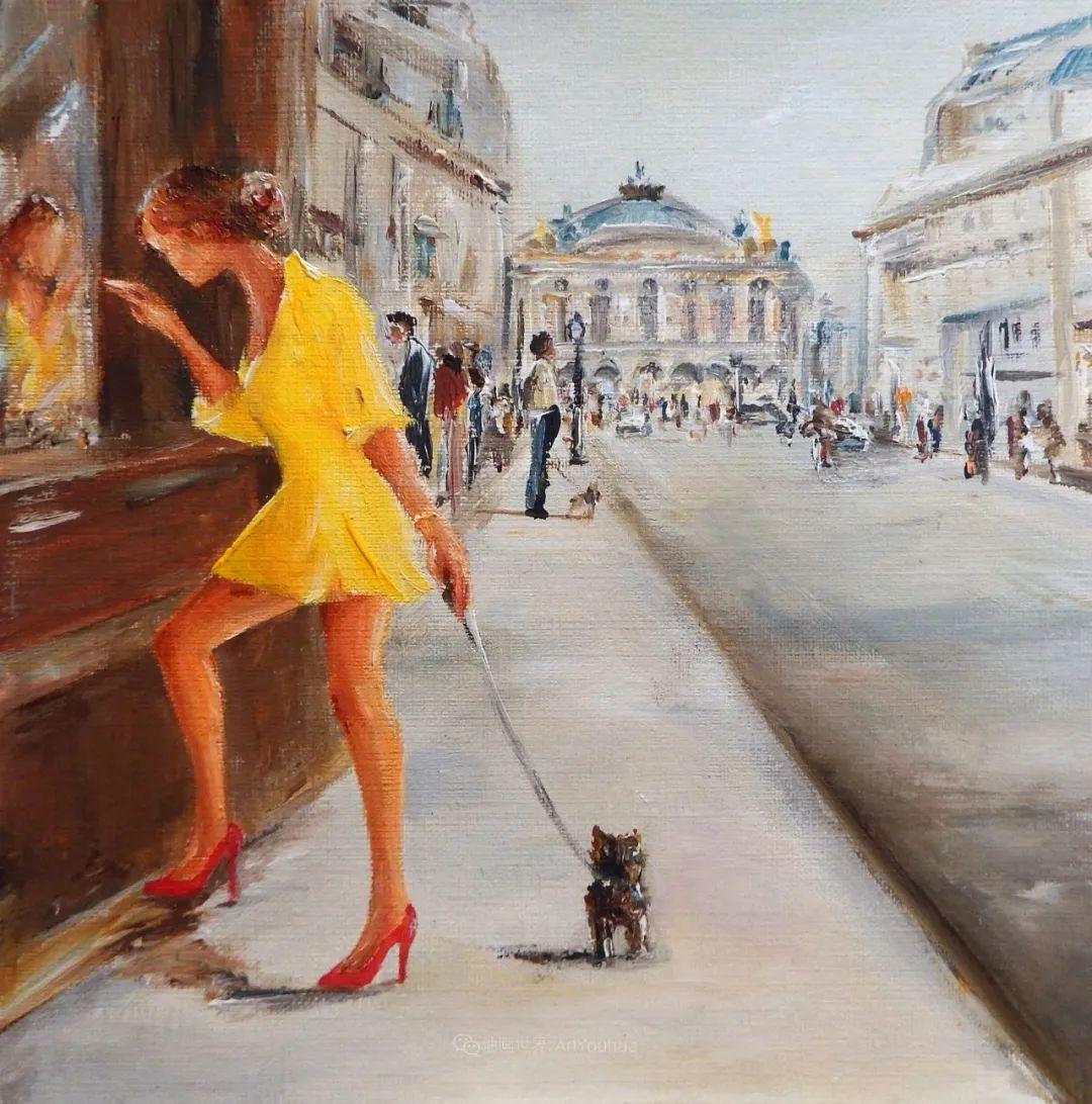 穿黄裙的女人,无忧无虑,轻盈美丽!插图25