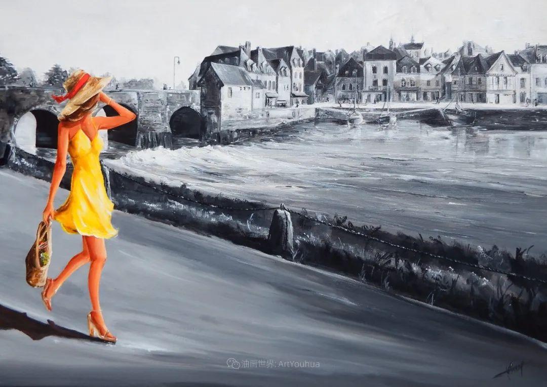 穿黄裙的女人,无忧无虑,轻盈美丽!插图35