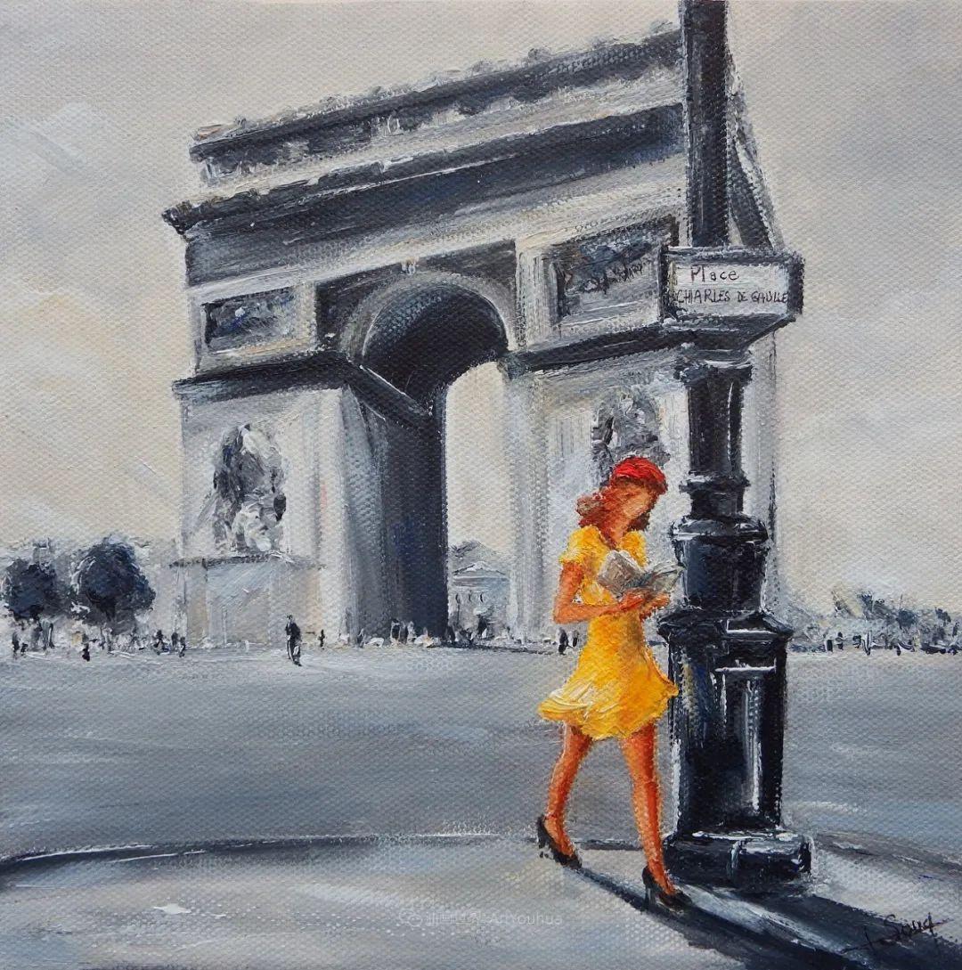穿黄裙的女人,无忧无虑,轻盈美丽!插图36