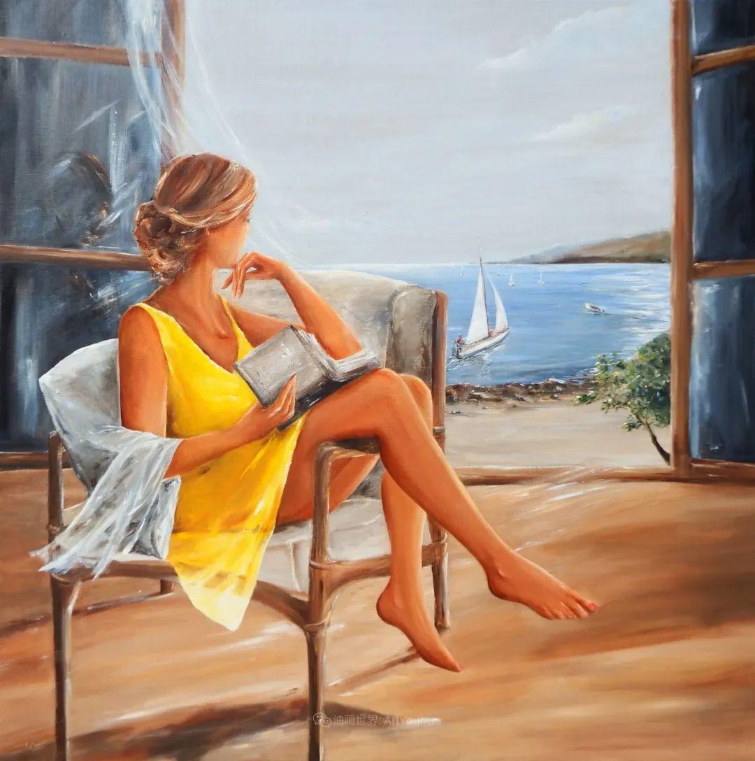 穿黄裙的女人,无忧无虑,轻盈美丽!插图42