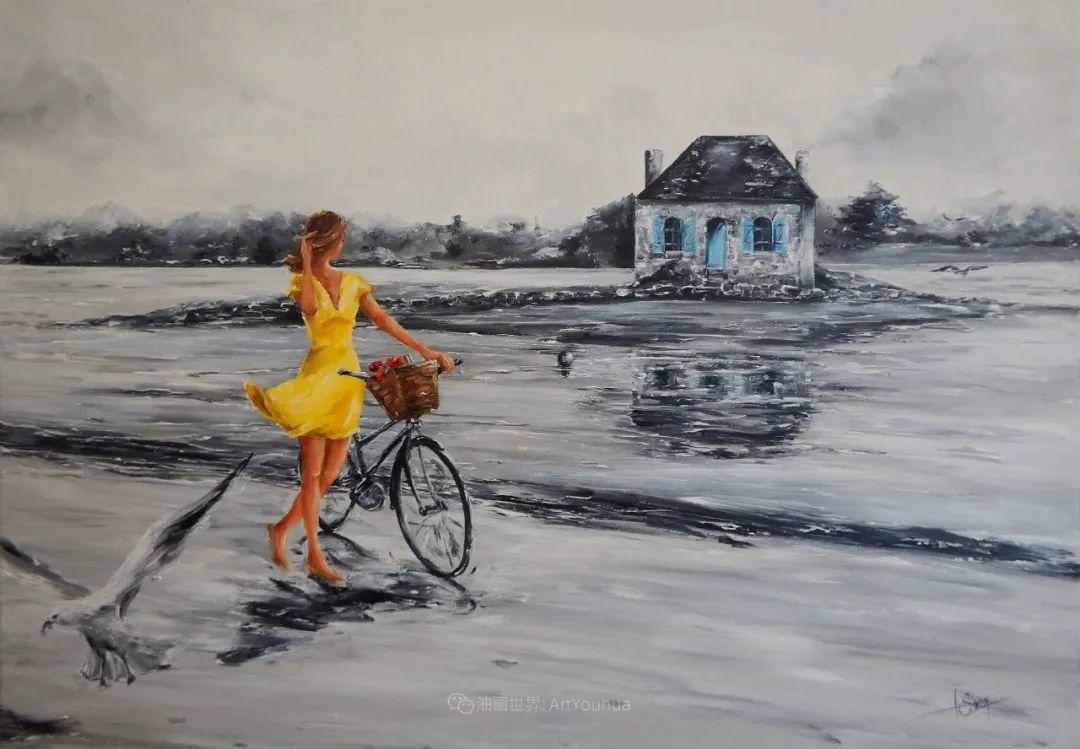 穿黄裙的女人,无忧无虑,轻盈美丽!插图43