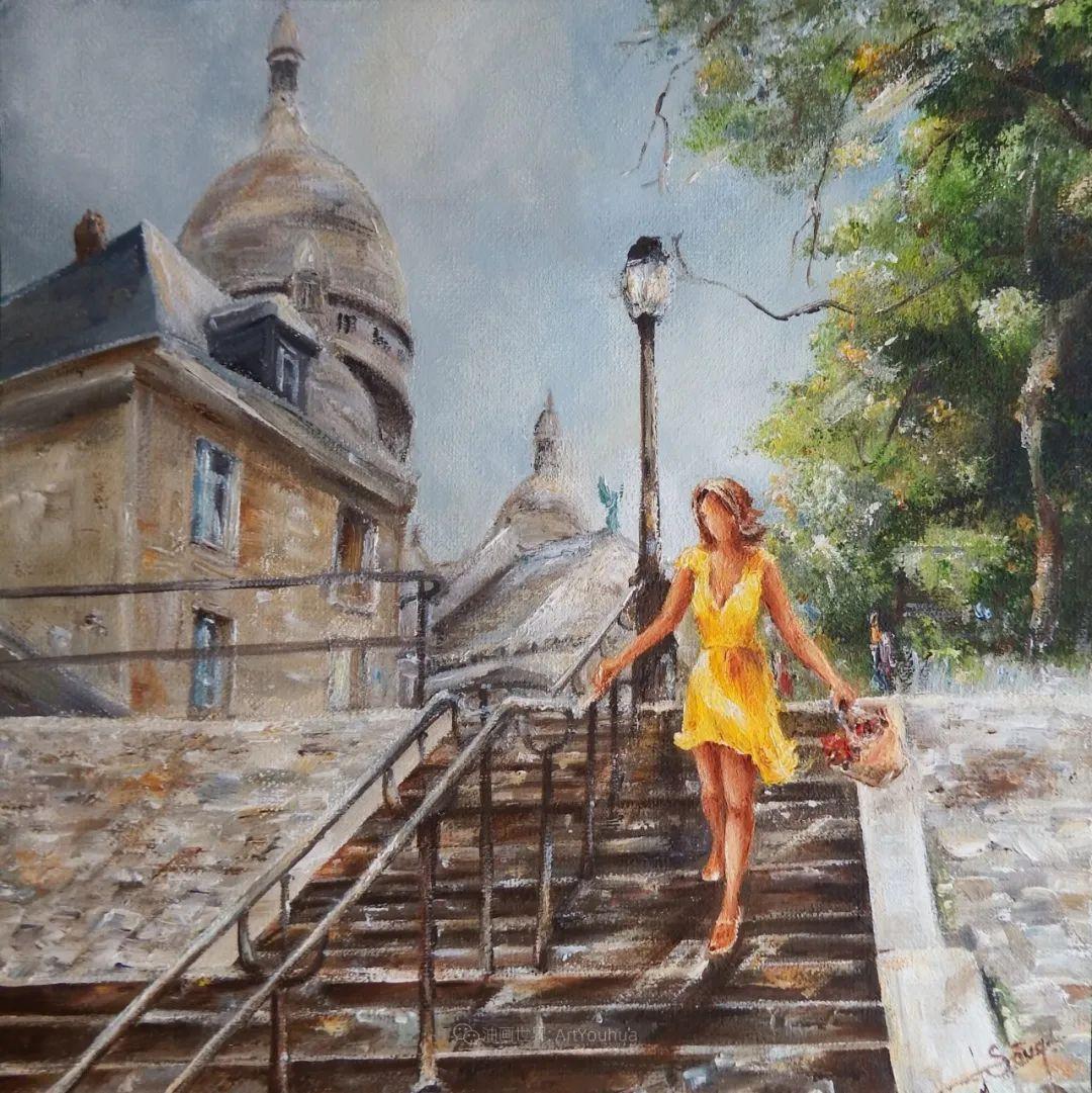 穿黄裙的女人,无忧无虑,轻盈美丽!插图48