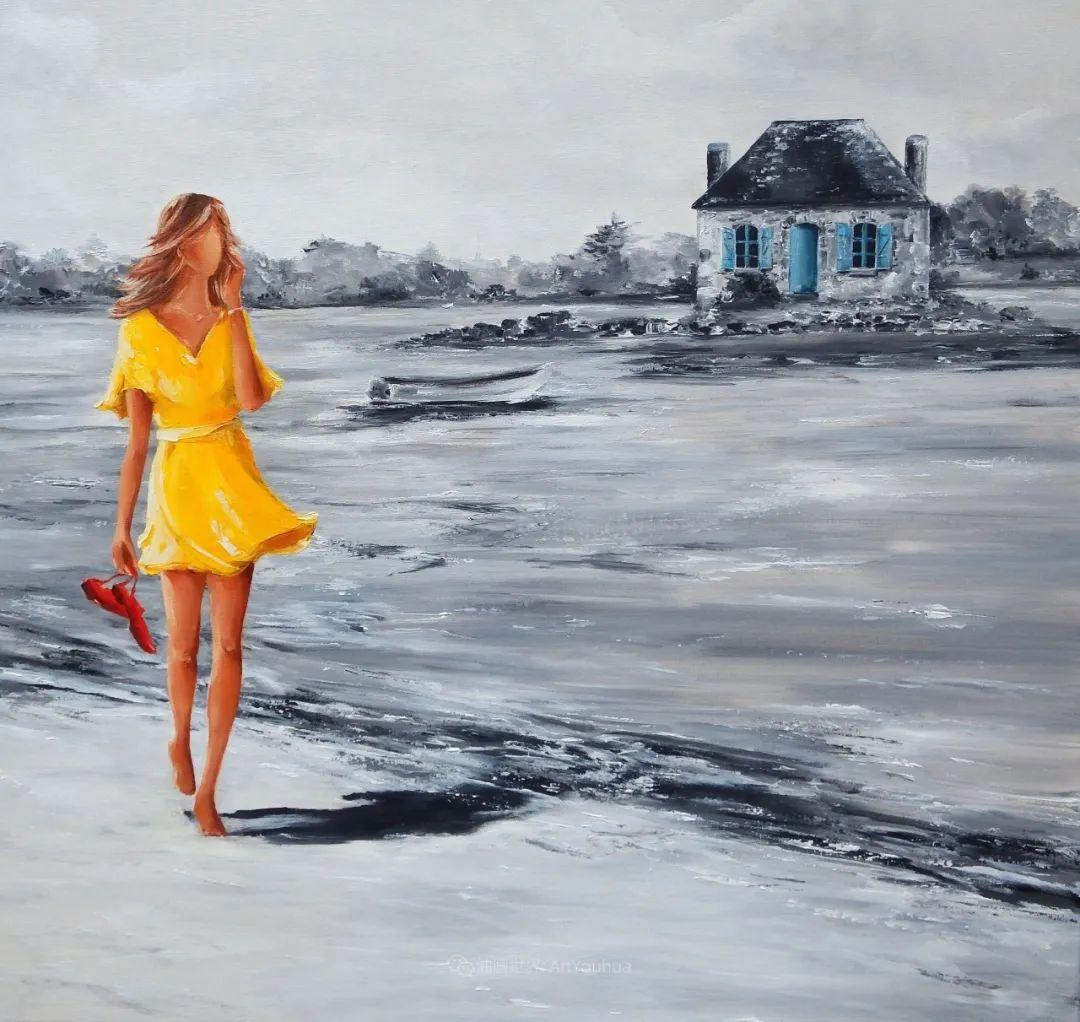 穿黄裙的女人,无忧无虑,轻盈美丽!插图50