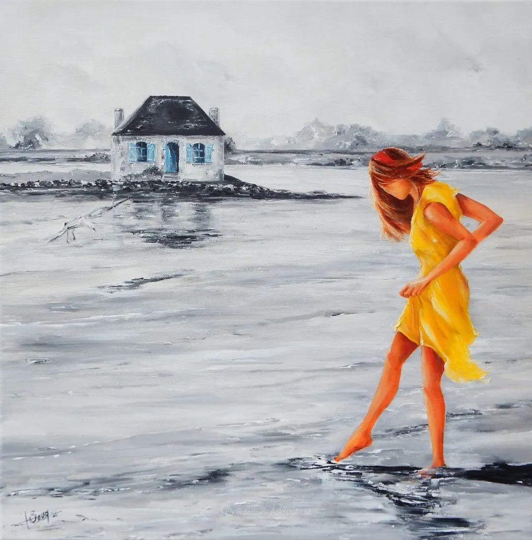 穿黄裙的女人,无忧无虑,轻盈美丽!插图53