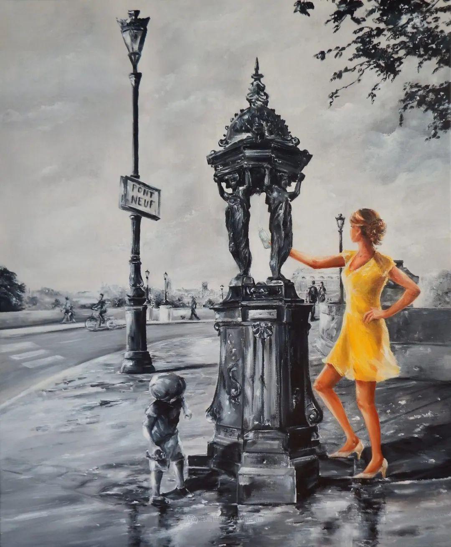 穿黄裙的女人,无忧无虑,轻盈美丽!插图54